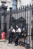 Police officers in Downing street London UK Royalty Free Stock Images