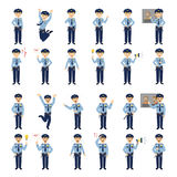 Police officers emotion set. Stock Image