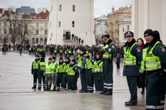 Police officers ensured safety Royalty Free Stock Photography