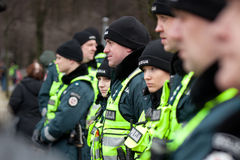 Police officers ensured safety Royalty Free Stock Images