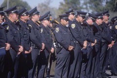 Police officers at funeral ceremony. Pleasanton, California Royalty Free Stock Photography