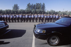 Police officers at funeral ceremony, Pleasanton Stock Photos