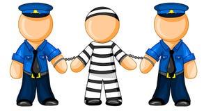 Police officers holds prisoner Stock Images
