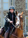 Police officers ion horseback stock photography