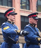 Police Officers Marching In Parade Royalty Free Stock Photography
