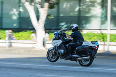 Police officers on motorcycles performing Stock Photography