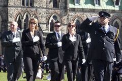 Police officers at parliament hill Stock Photos