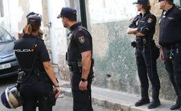 Anti drug raid in mallorca stock images