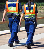 Police officers. On the street Stock Photos