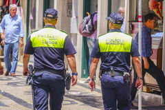 Police Officers in the streets of Lisbon Royalty Free Stock Images