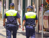 Police Officers in the streets of Lisbon Stock Image