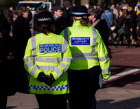 Police Officers on the Streets of London Stock Images