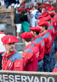 Police officers working at  festival of San Fermin Royalty Free Stock Photos