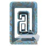 Police ou type rouillé en métal, fer ou morceau d'industrie sidérurgique Image libre de droits