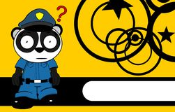 Police panda bear kid cartoon background7 Royalty Free Stock Images