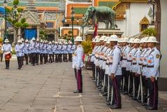 Police parade, Thailand. Police parade on royal palace, Thailand Stock Photo