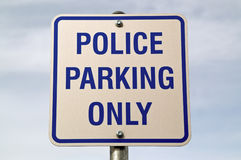 Police Parking Sign Stock Photo