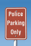 Police parking only -traffic sign Stock Photo