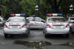 Police partol car stock photos