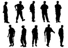 Police patrol. Vector image of police officers Royalty Free Stock Photo