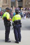 Police patrol in Barcelona Royalty Free Stock Image