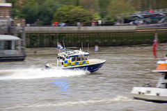 Thames Police. A police patrol boat on call on the river Thames in London Royalty Free Stock Images