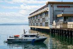 Police patrol boat in Seattle, WA, USA Stock Photography