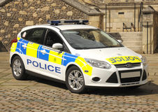 Police patrol car. A police patrol car, Hampshire, England. August 2013 Royalty Free Stock Image