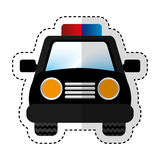 Police patrol car icon Royalty Free Stock Images