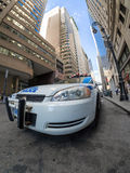 Police patrol car at a street in downtown New York Stock Photo