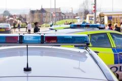 Police Patrol Cars Stock Photo