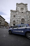 Police patrol city car in Florence Royalty Free Stock Image