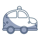 Police patrol drawing icon Stock Image