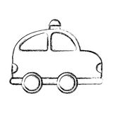Police patrol drawing icon Stock Photography