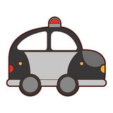 Police patrol drawing icon Stock Photo