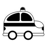 Police patrol drawing icon Royalty Free Stock Images