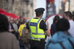 Police patrol during the Edinburgh Fringe Festival, 2014 Royalty Free Stock Images