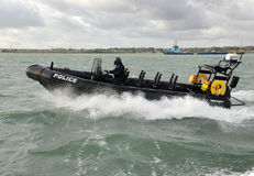 Police patrol RIB Protector Stock Photo