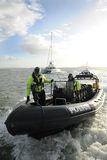 Police patrol RIB up close Stock Photo