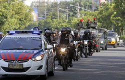 Police patrolled Stock Images