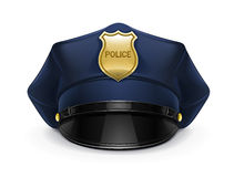 Police peaked cap with cockade Stock Photos
