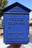 Police Phone Stock Image