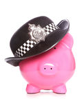 Police piggy bank. Studio cutout Stock Photos