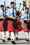 Police Pipes and Drums Royalty Free Stock Photography
