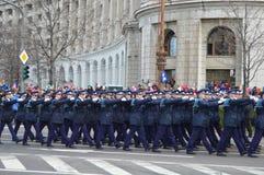 Police Platoon Stock Photo