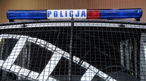 Police in Poland Royalty Free Stock Photo