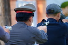 Police,Police gun,Police training weapons. Royalty Free Stock Photos