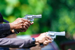 Police,Police gun,Police training weapons. Stock Image