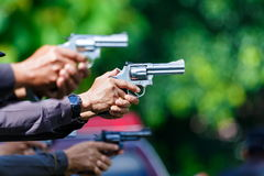 Police,Police gun,Police training weapons. Stock Images