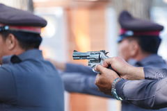 Police,Police gun,Police training weapons. Royalty Free Stock Photo